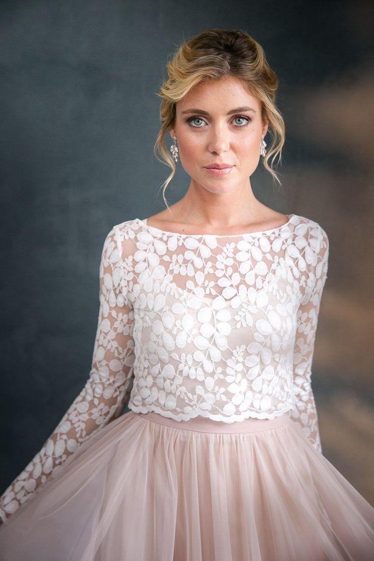 Pin auf Brautkleider mit Spitze, moderne Spitze im Boho Style