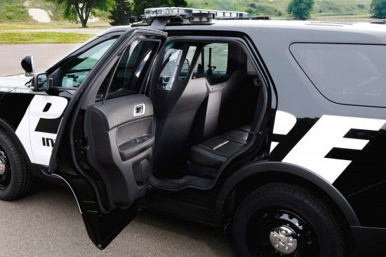 Ford Police Interceptor Utility vehicle - rear seat compartment