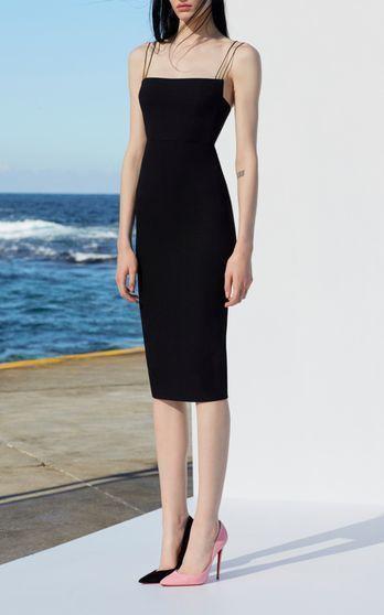 Schwarze Träger, dünnes Abendkleid, schwarzes kurzes Abendkleid   – Sexy prom dress