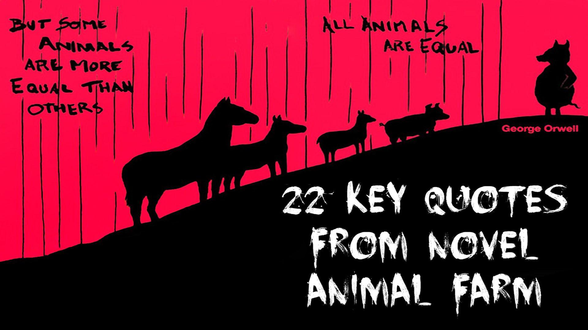 Animal Farm Quotes 22 Key Quotes From Novel Animal Farm #animalfarm #georgeorwell .