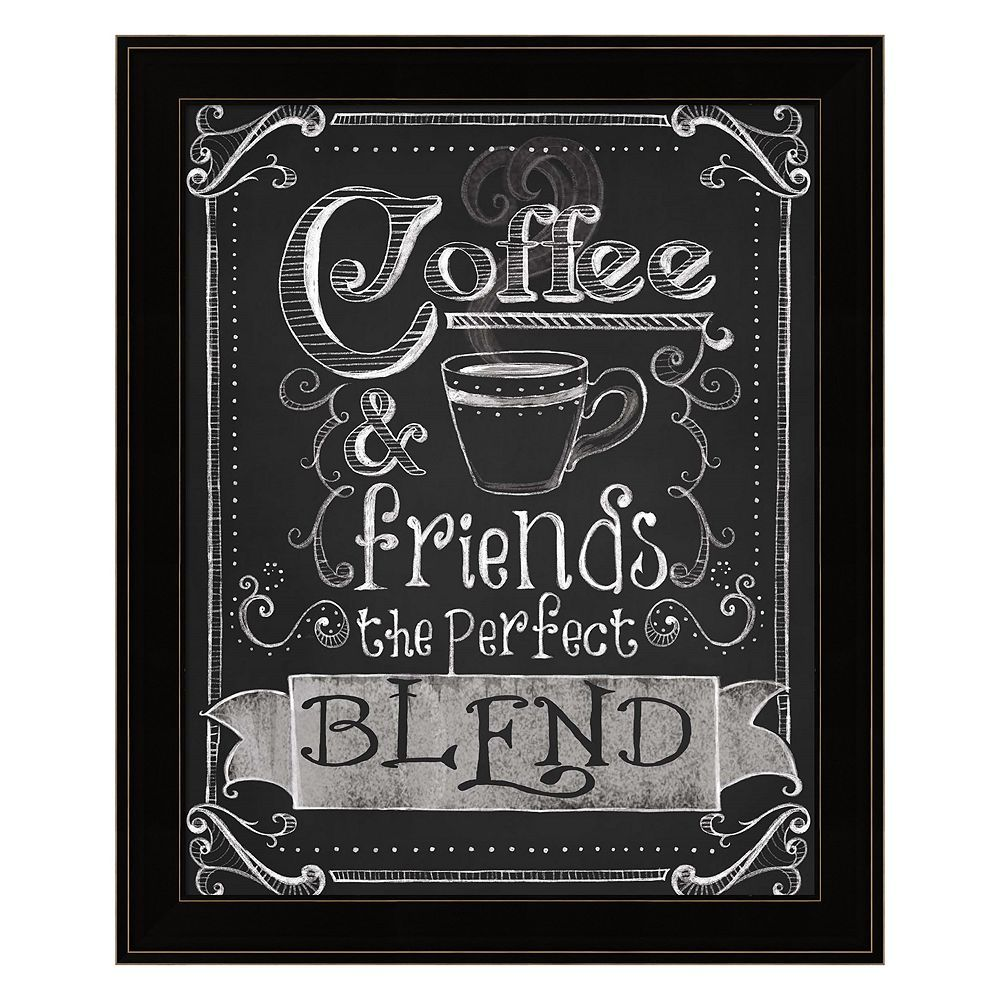 Coffee Friends Framed Wall Art Coffee Chalkboard Chalkboard Art Chalk
