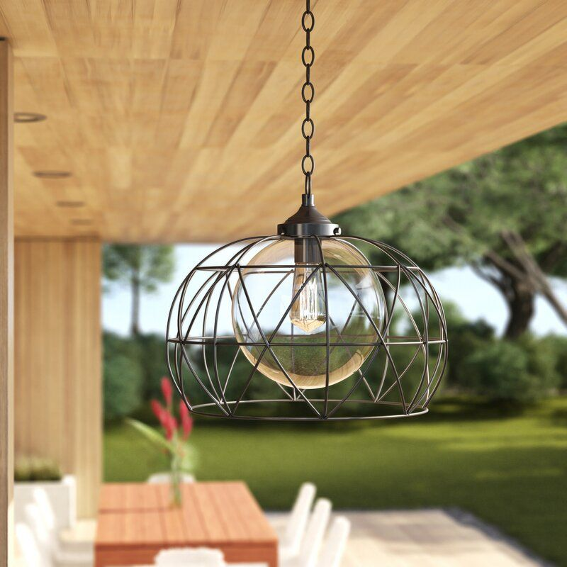 Wyckoff Blackened Oil Rubbed Bronze 1 Bulb 15 H Plug In Outdoor Pendant Outdoor Hanging Lanterns Outdoor Hanging Lights Outdoor Chandelier