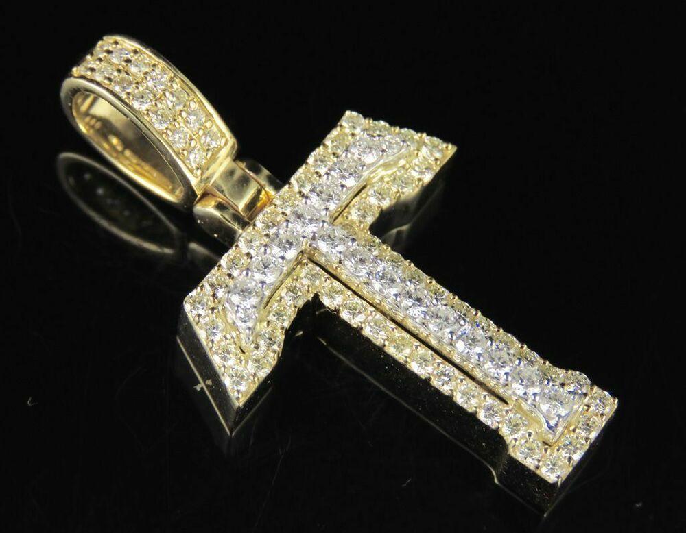 "10K Yellow Gold Over Diamond Custom 3D Initial T Letter Pendant 1.25 CT 1.5/"""