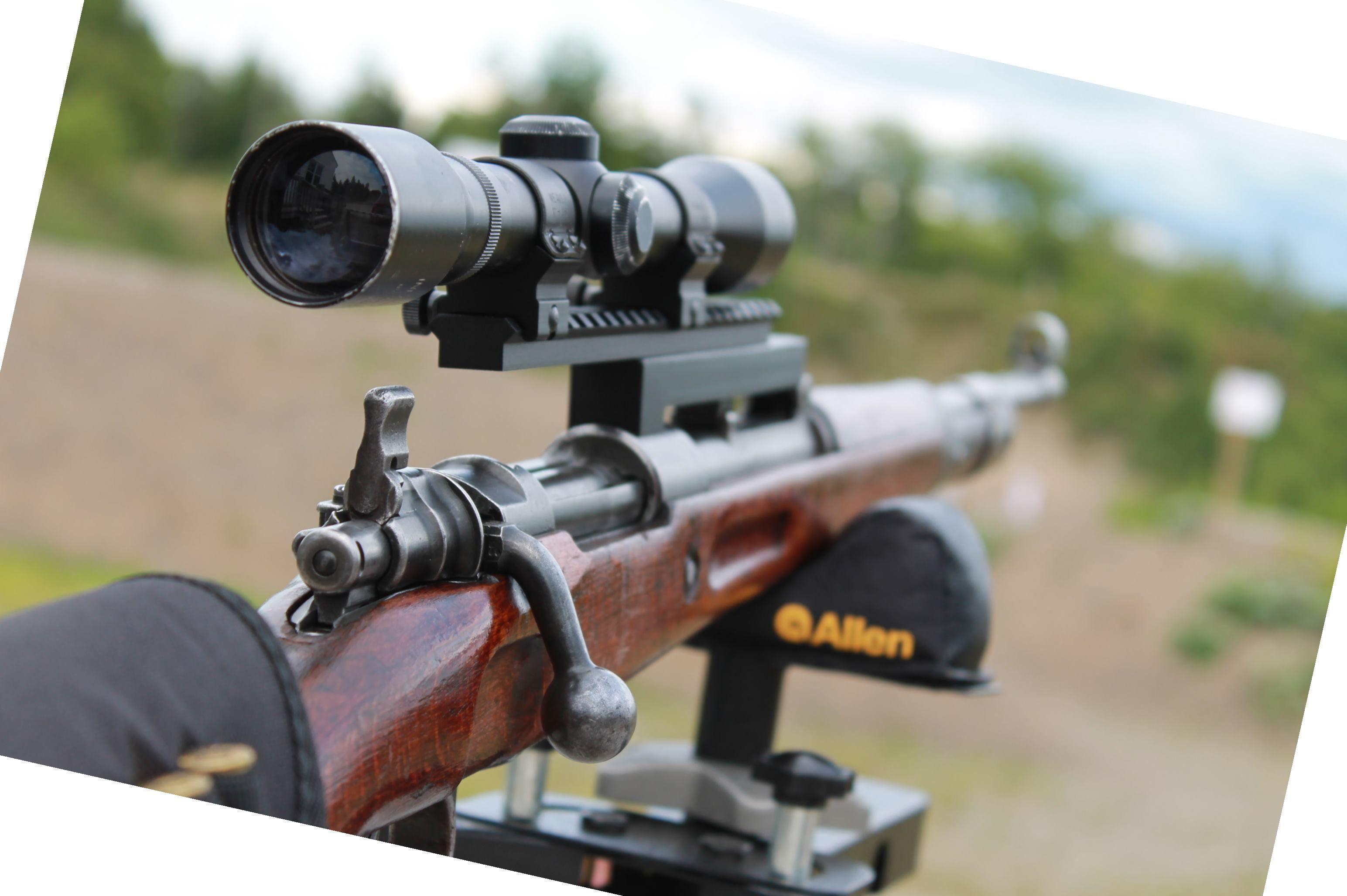Mauser K98 / 98K sniper DIY built with NDT(No-Drill-Tap) Scope Mount