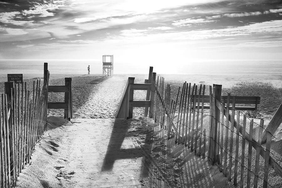 The beach in black and white photograph the beach in black and white fine art print cape cod style