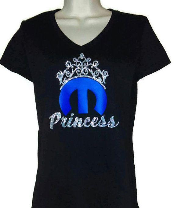 3f63da3c7b00 Mopar Princess Womens Vneck T-shirt by HighonHorsepower on Etsy #dodge  #challenger #charger #ram #rt #chrysler #jeep