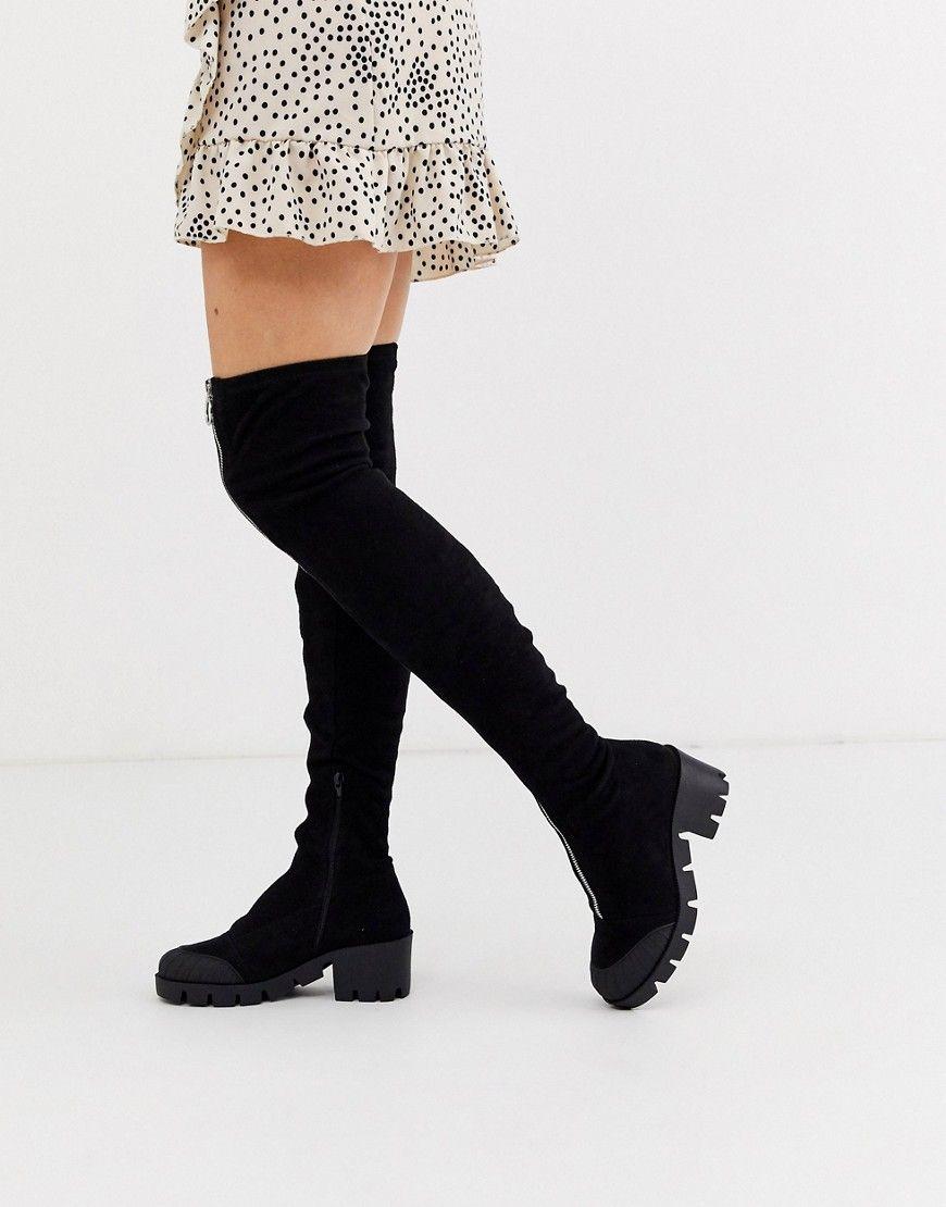 Shop Duffy Knee High Boot Black