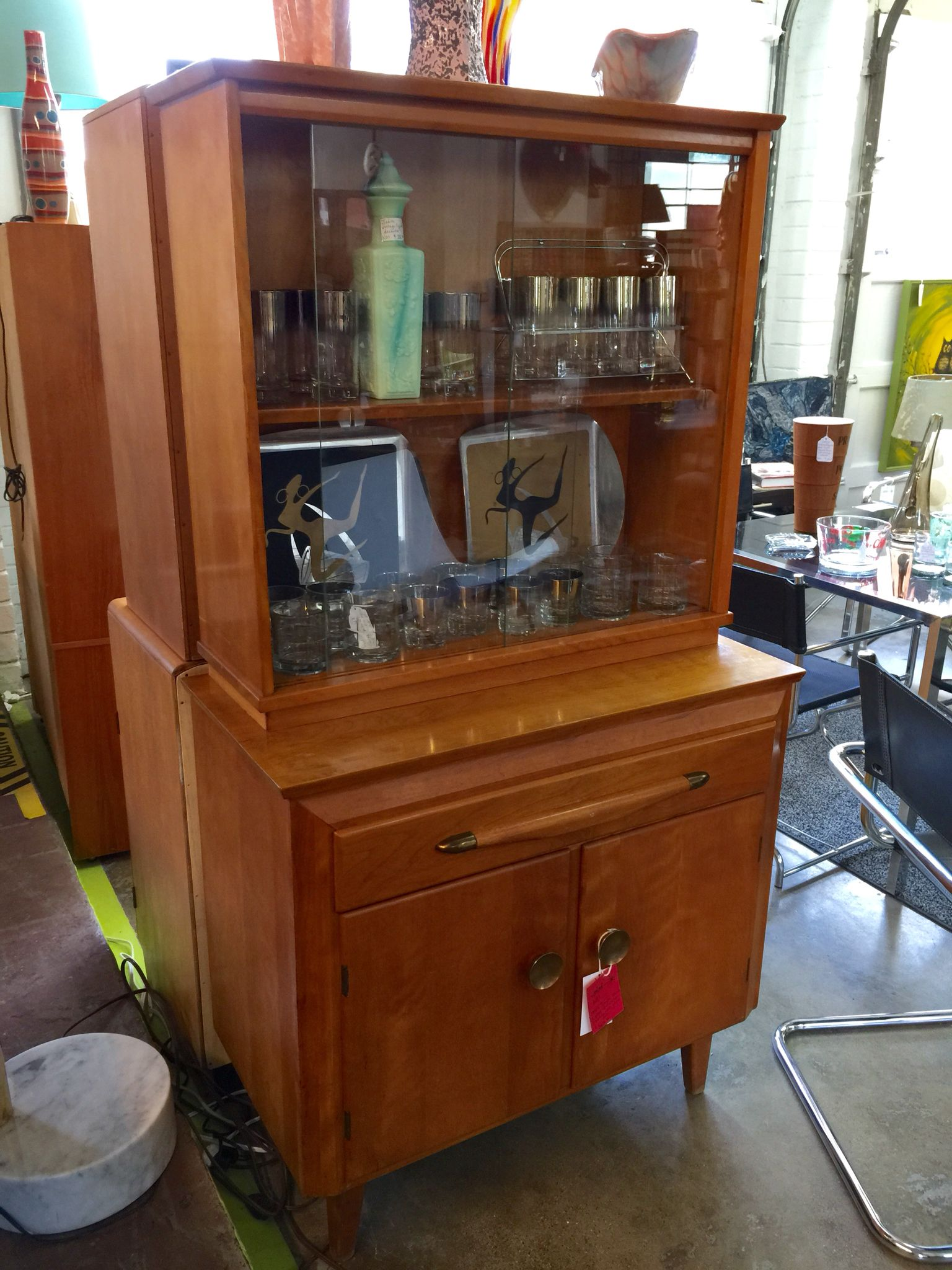 Hutch Display Cabinet 1950s Temple Stuart Hutch Display Cabinet Available At Mid Mod