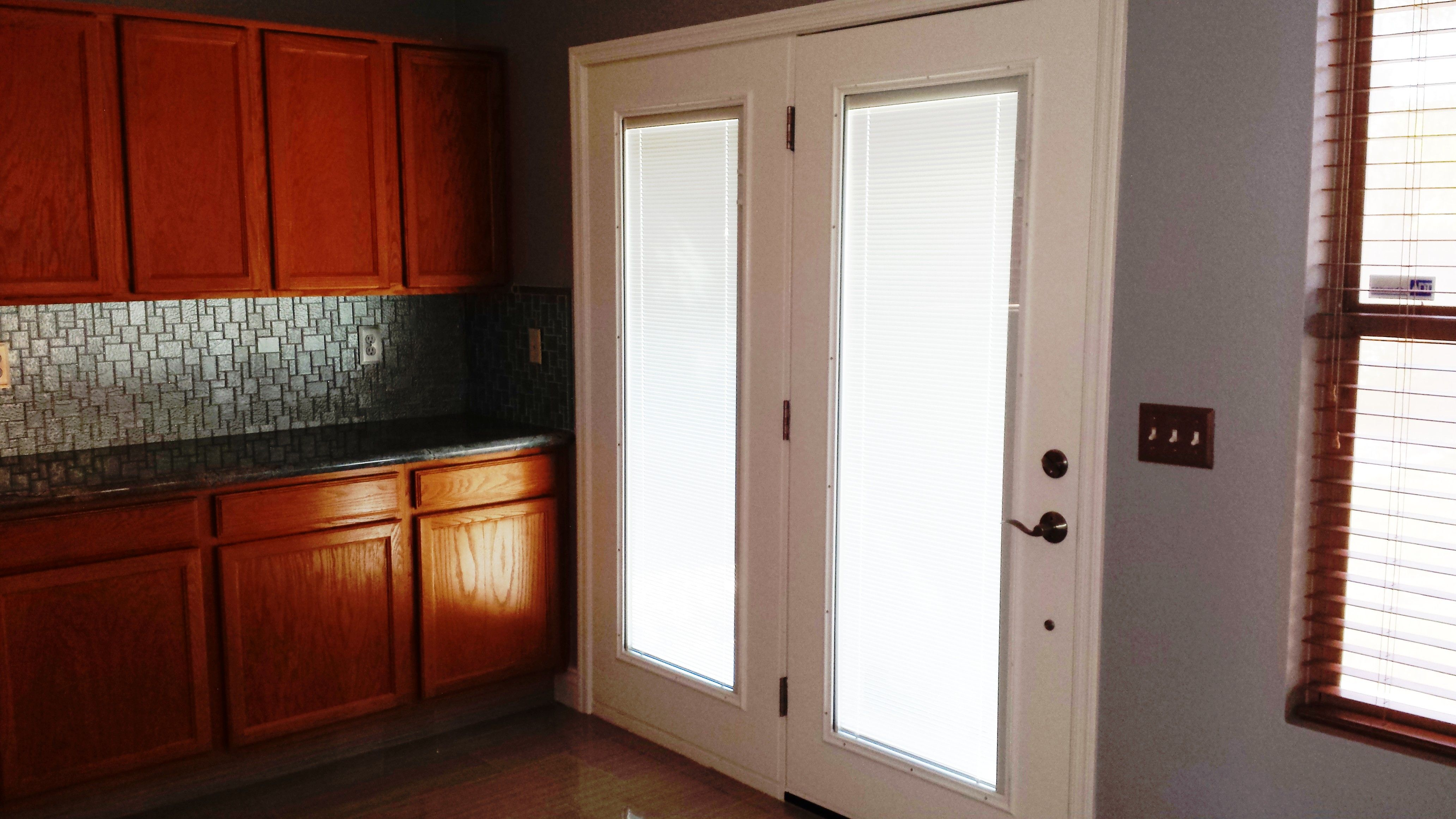 Interior Exterior White Painted Wooden French Patio Doors With