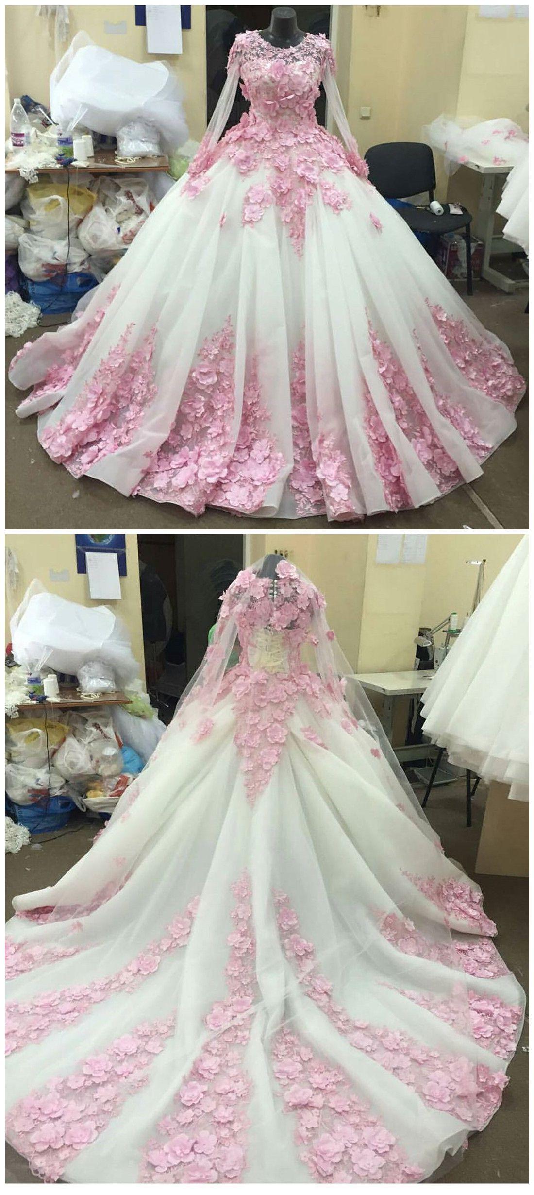 New Arrival Prom Dressmodest Prom Dressflower Wedding Dresspink