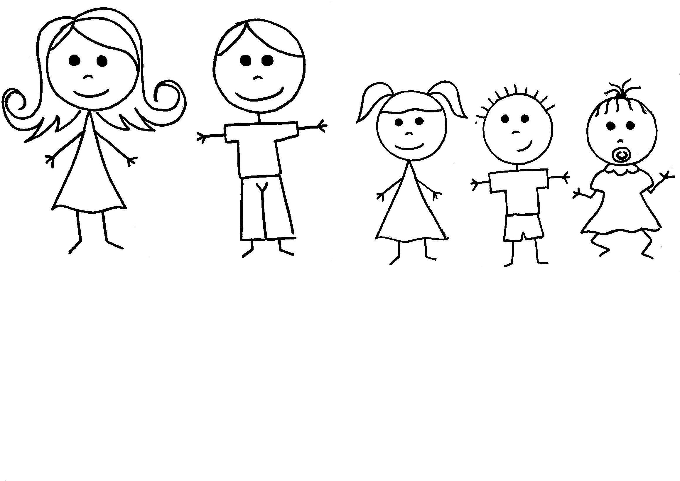 Лет дочке, рисунок семья из 5 человек