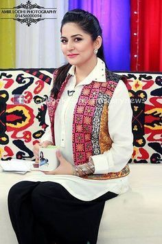 04e42f63c6 Sanam Baloch Dresses, Cigarette Pants Outfit, Casual Work Attire, Kurta  Style, Tunic