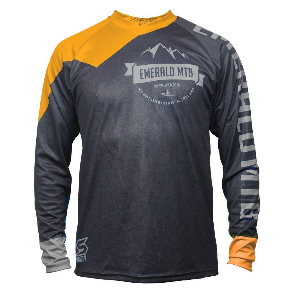 This Mountain Biking Jersey Features Bold Orange Grey Colours On