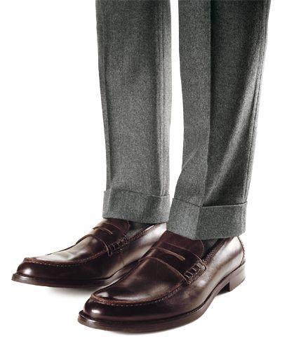 Dress pant cuff styles