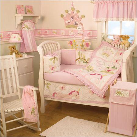 Infant Girl Unicorn Bedding Girl Crib Bedding Nojo Princes Dreams