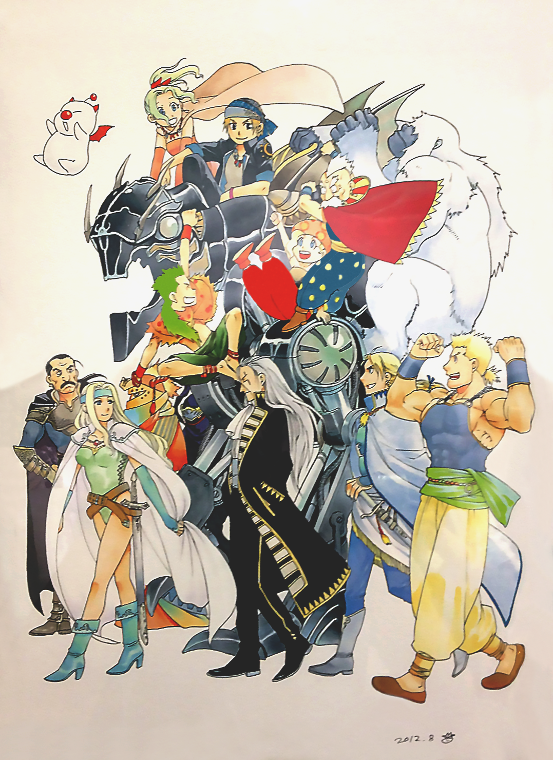 Final Fantasy 6 artwork by Hiromu Arakawa  illustration  FF6  56ca20cdc6d