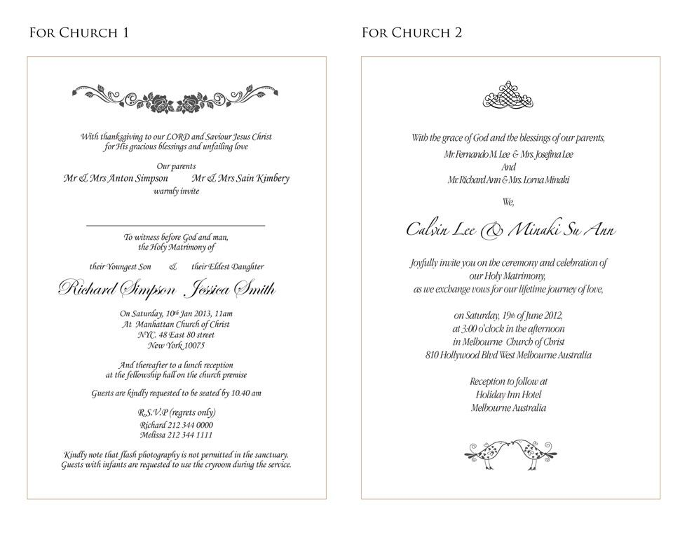 Wedding Invitation Wording English: Wedding Invitations Wording Sample-3