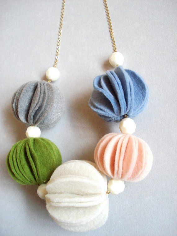 funky, fun, felt necklace