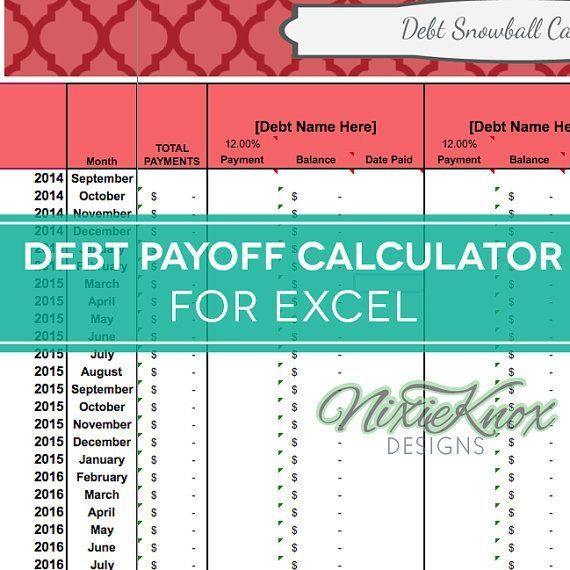 Debt Payoff Calculator For Excel Track Your Interest Rates Payments And Total Debt For Your Debt Snowball Debt Payoff Paying Off Credit Cards Debt Snowball
