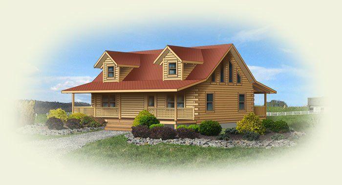 Mount Vernon II Log Home Floor Plan