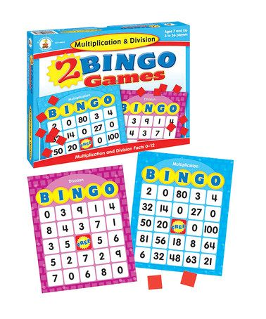 Take a look at this Multiplication & Division Bingo by Carson-Dellosa Publishing Company on #zulily today!