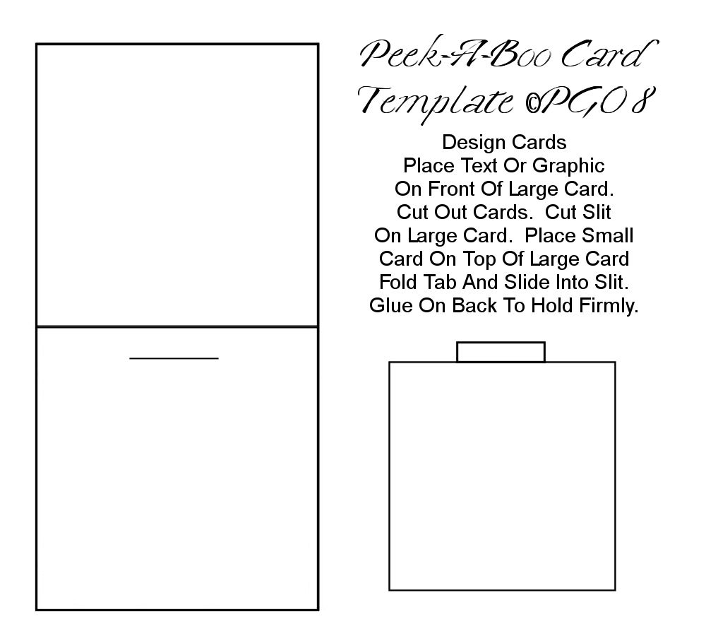 peek a boo card template i made paper craft templates by
