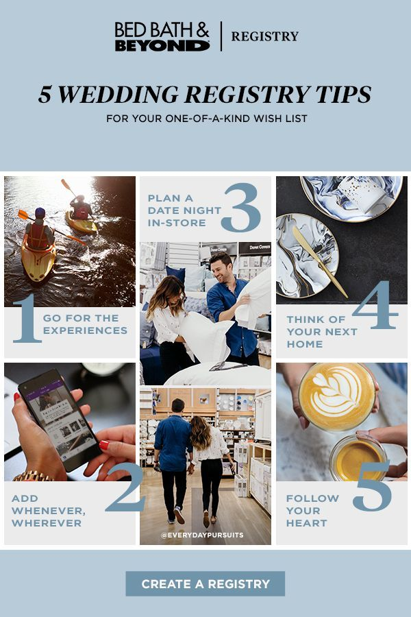 5 Tips To Build The Wedding Registry That S Right For You From The Experts At Bed Bath Beyond In 2020 Wedding Registry Essentials Wedding Planning Wedding Registry