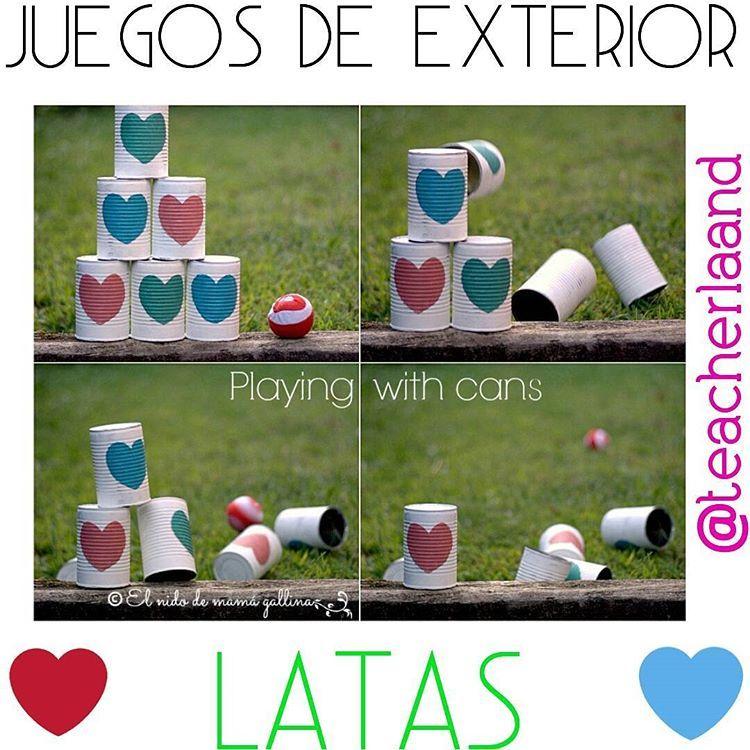 ☆Manualidades☆ Juegos para niños utilizando latas, este es un ...