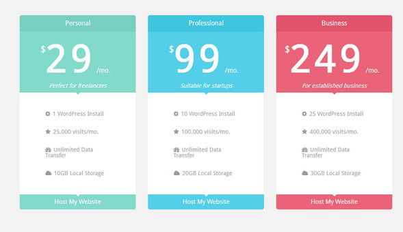 Colorful Chart and Table Design Inspiration Pinterest - free comparison chart template