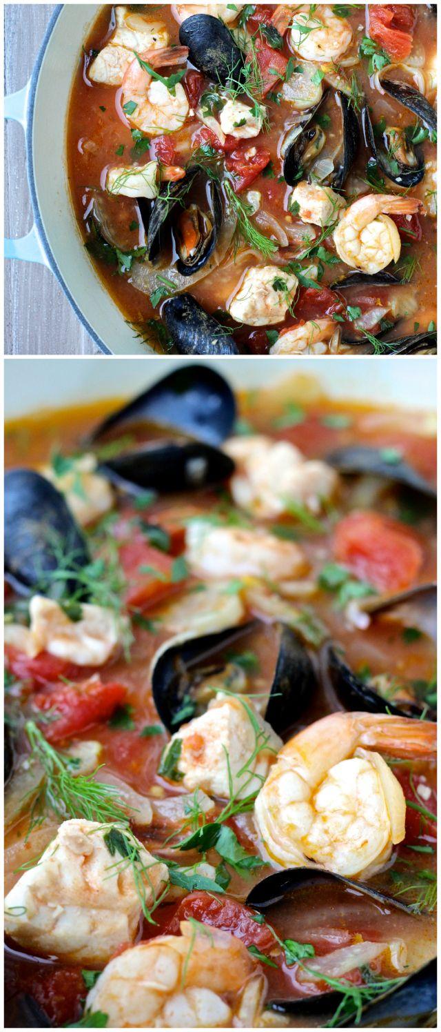 Sunshine State Cioppino (Seafood Stew) #seafoodstew