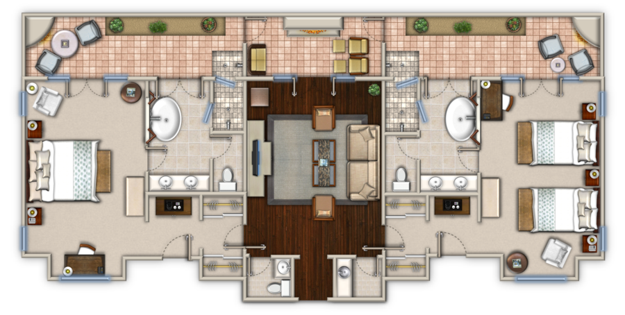 Hotel room floor plans hotel floorplan design hotel for Hotel design layout