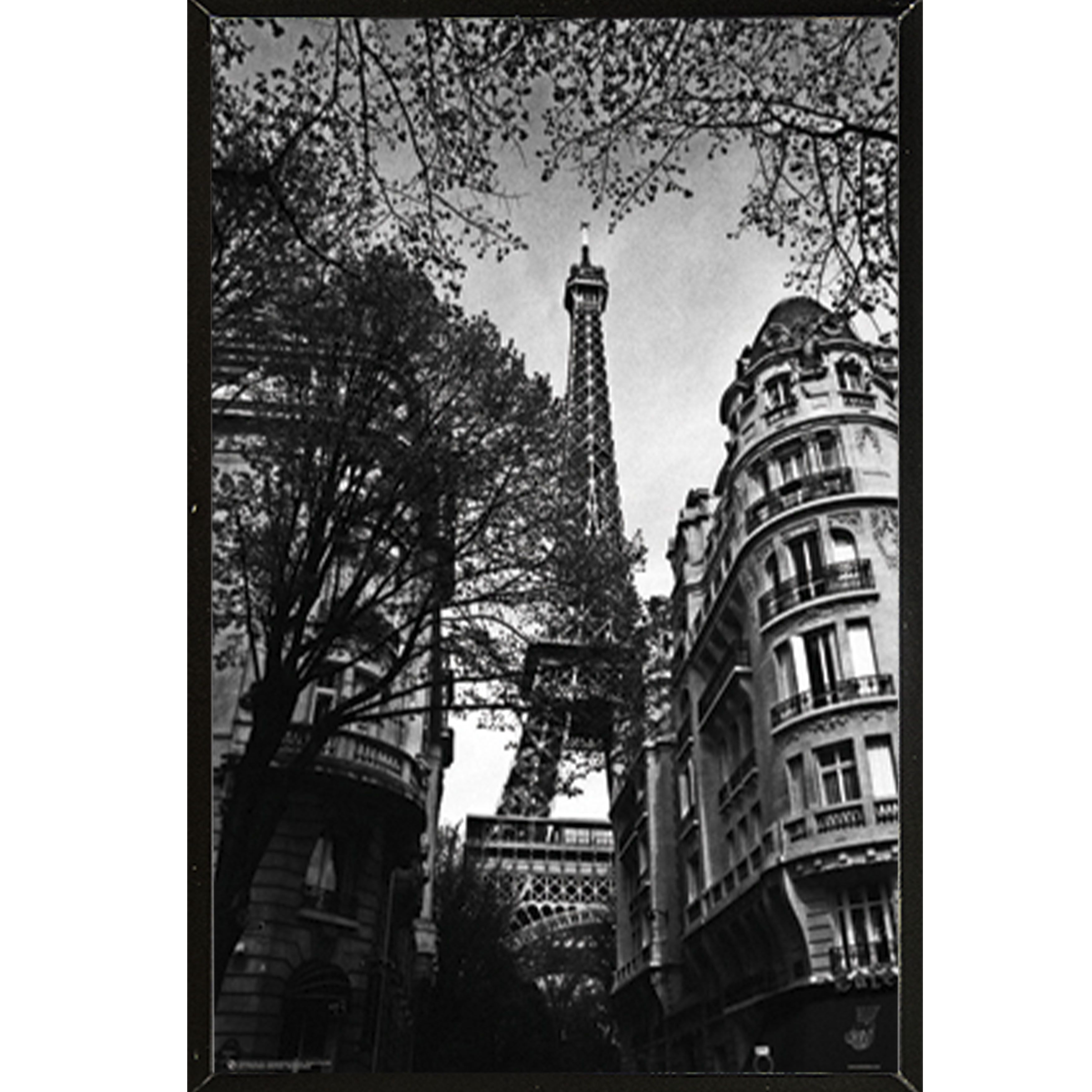 Usa ueiffel toweru and white inch x inch poster with hardboard