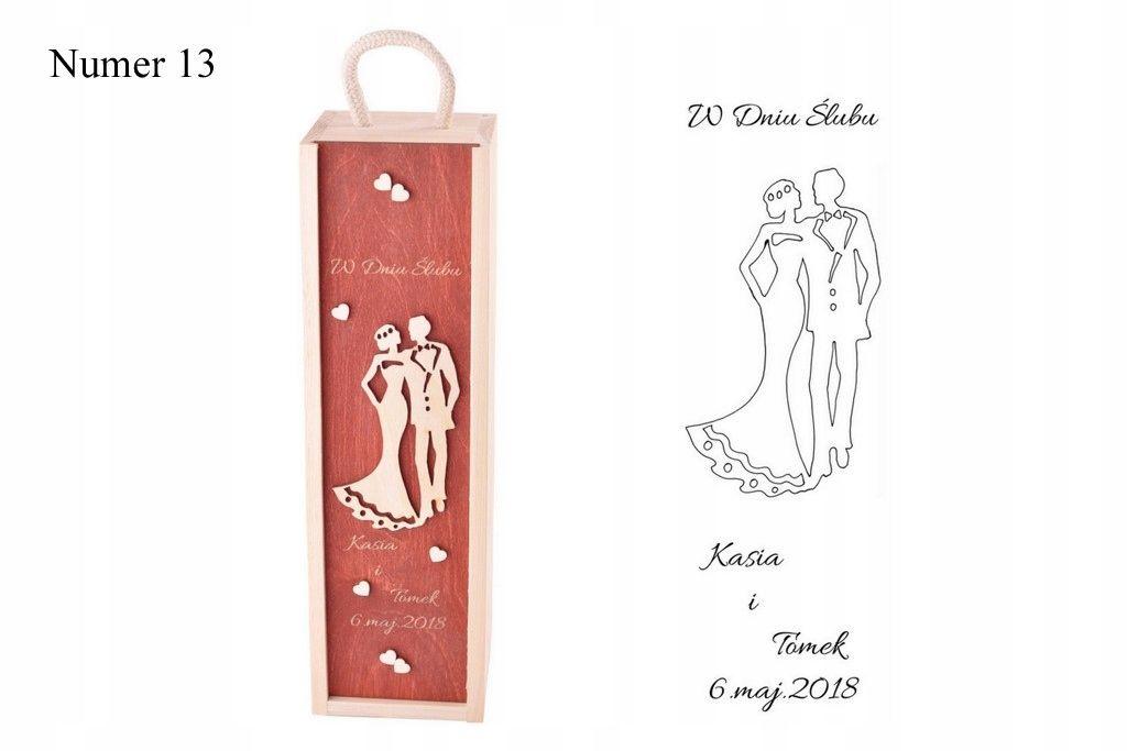 Skrzynka Grawerowana Skrzynka Na Wino Prezent Slub Decoupage Box Wood Wine Box Wine Gift Boxes