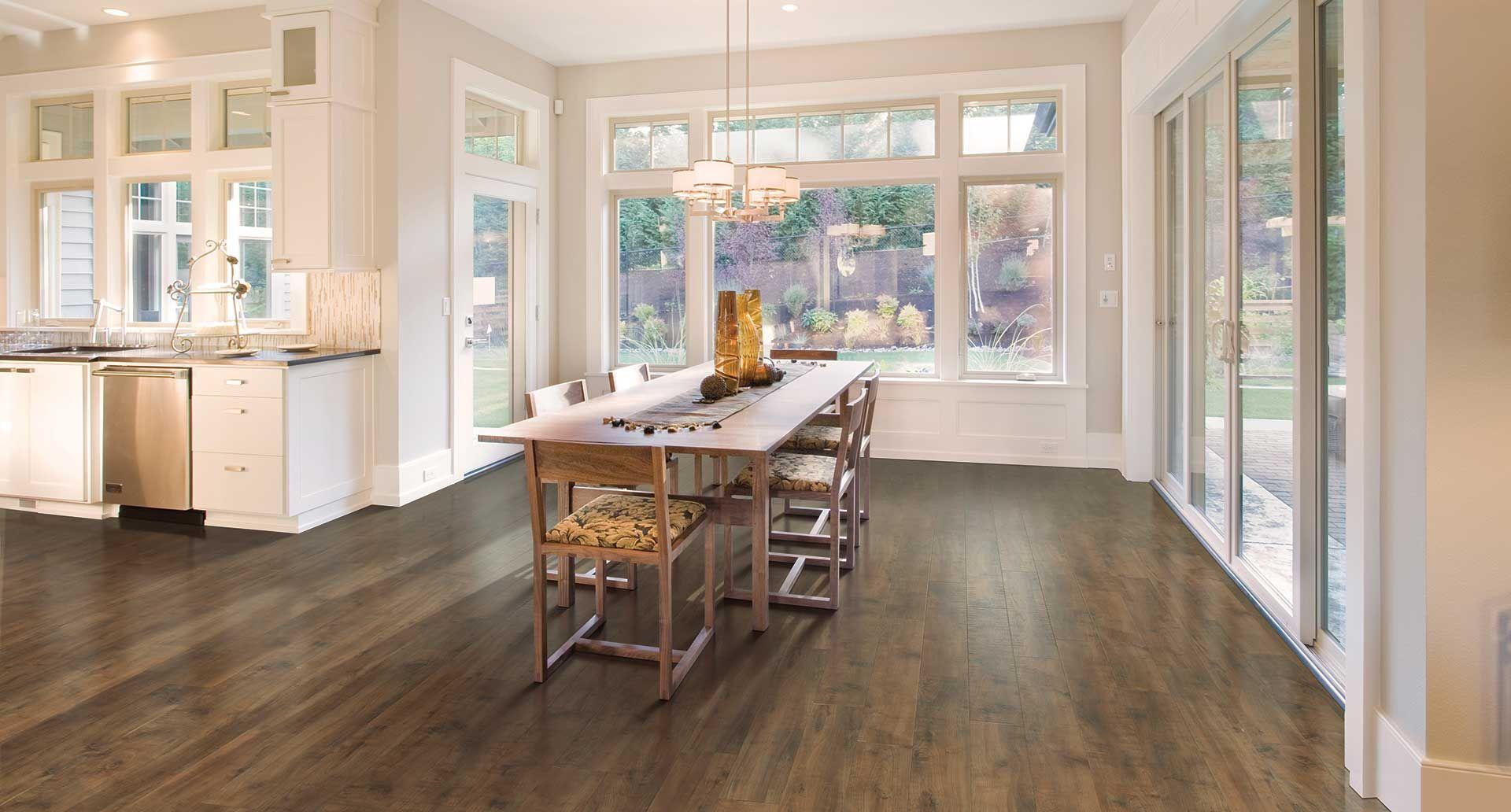 Harvest Cherry Smooth Laminate Floor Medium Burdy Color Finish 10mm 1 Strip Plank Flooring Easy To Install Pergo Lifetime Warranty
