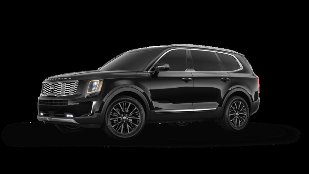 2020 Kia Telluride Ebony Black Black Car Kia Mid Size Suv