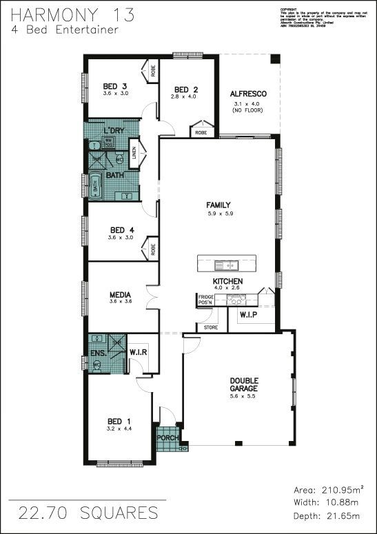 Harmony 4bed Entertainer By Allworth Homes House Plans Harmony House Harmony