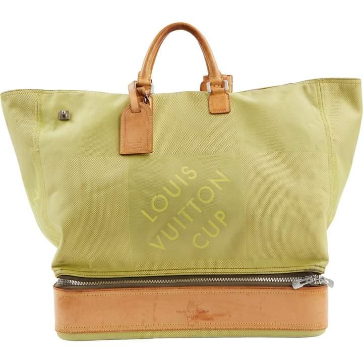 952315af6474 Louis Vuitton Vintage Green Cloth Handbag