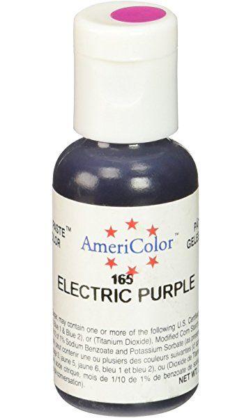 Americolor Gel Paste Food Color, Electric Purple | food colour ...