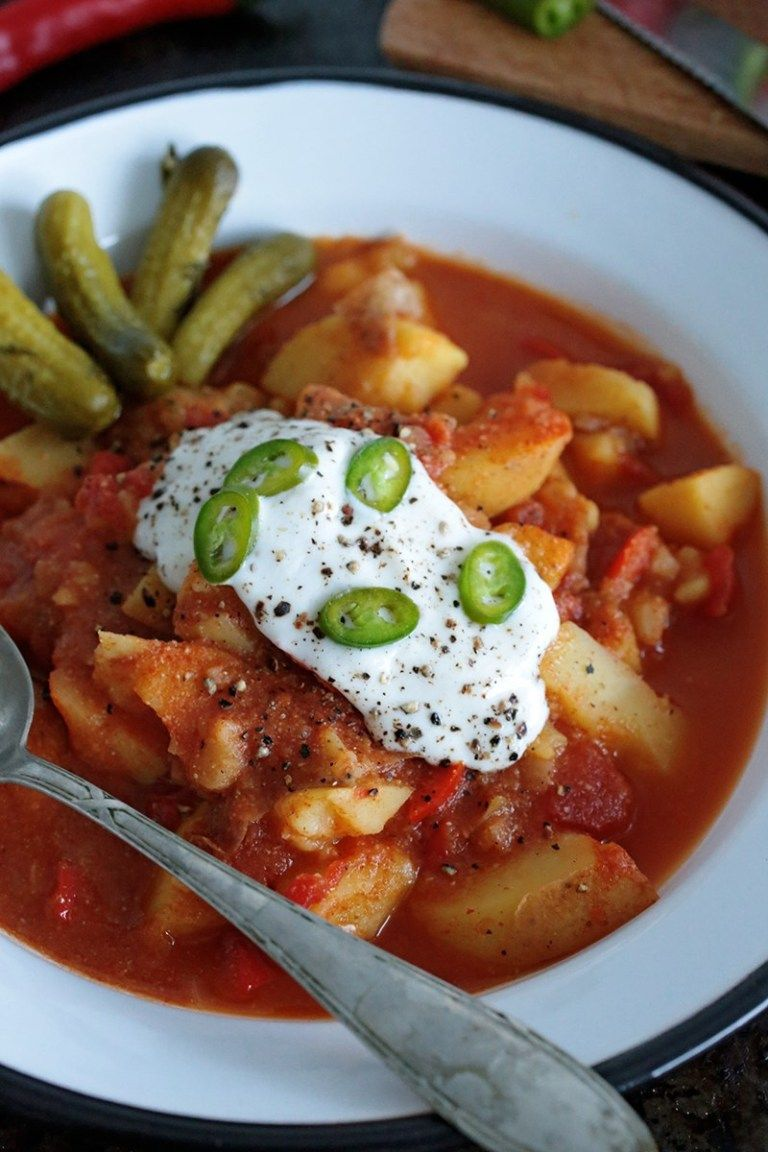 Vegan Hungarian Paprika Potato Stew
