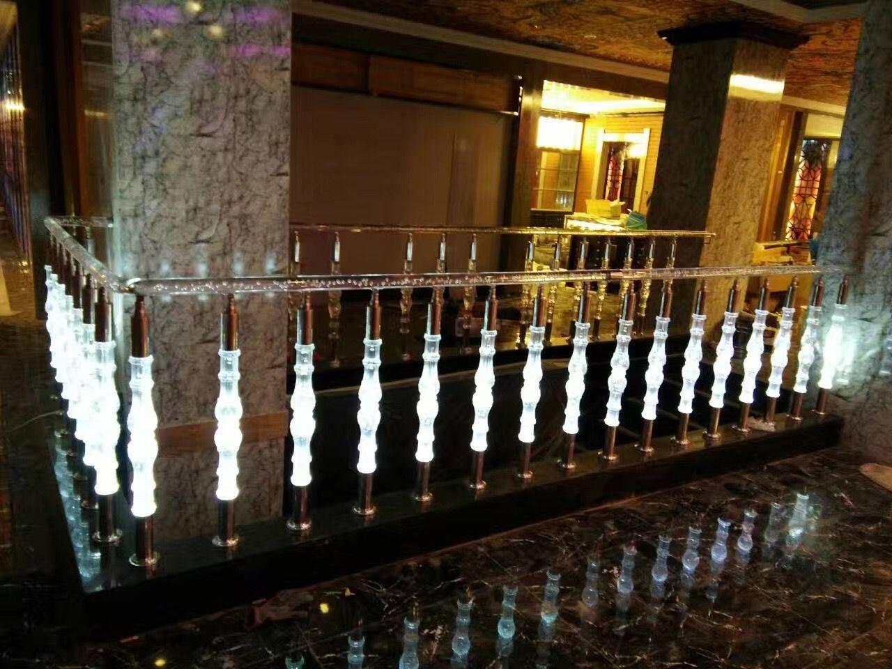 Best Ktv Hotel Decor Fashion Acrylic Railing With Lighting 640 x 480