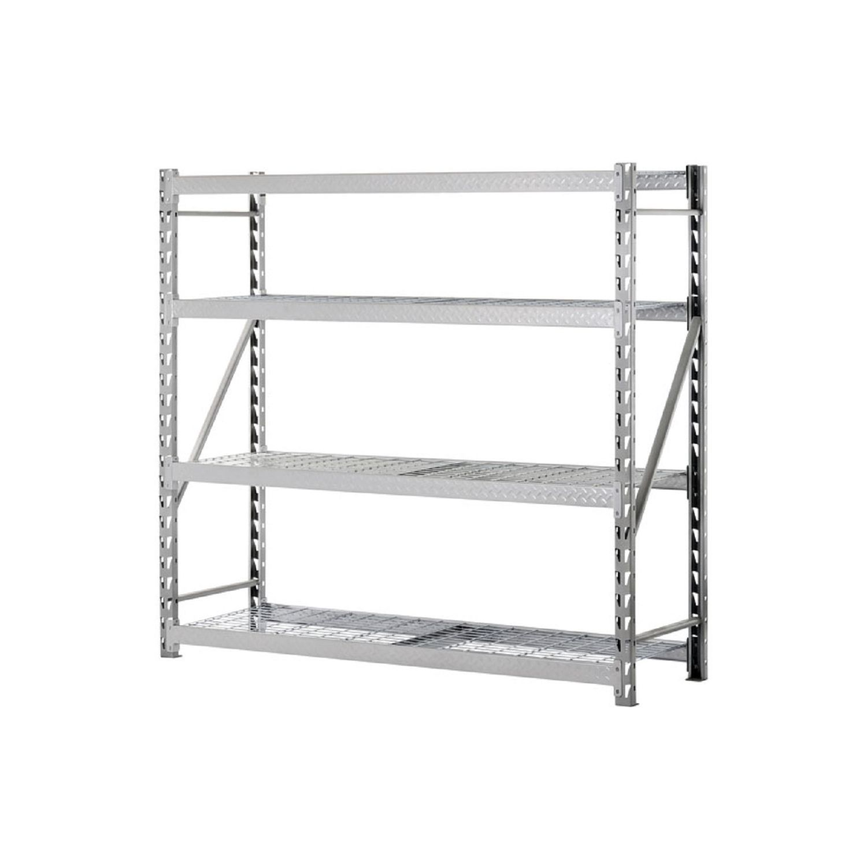 Muscle Rack Heavy-Duty 4-Level Welded Steel Treadplate Rack with ...