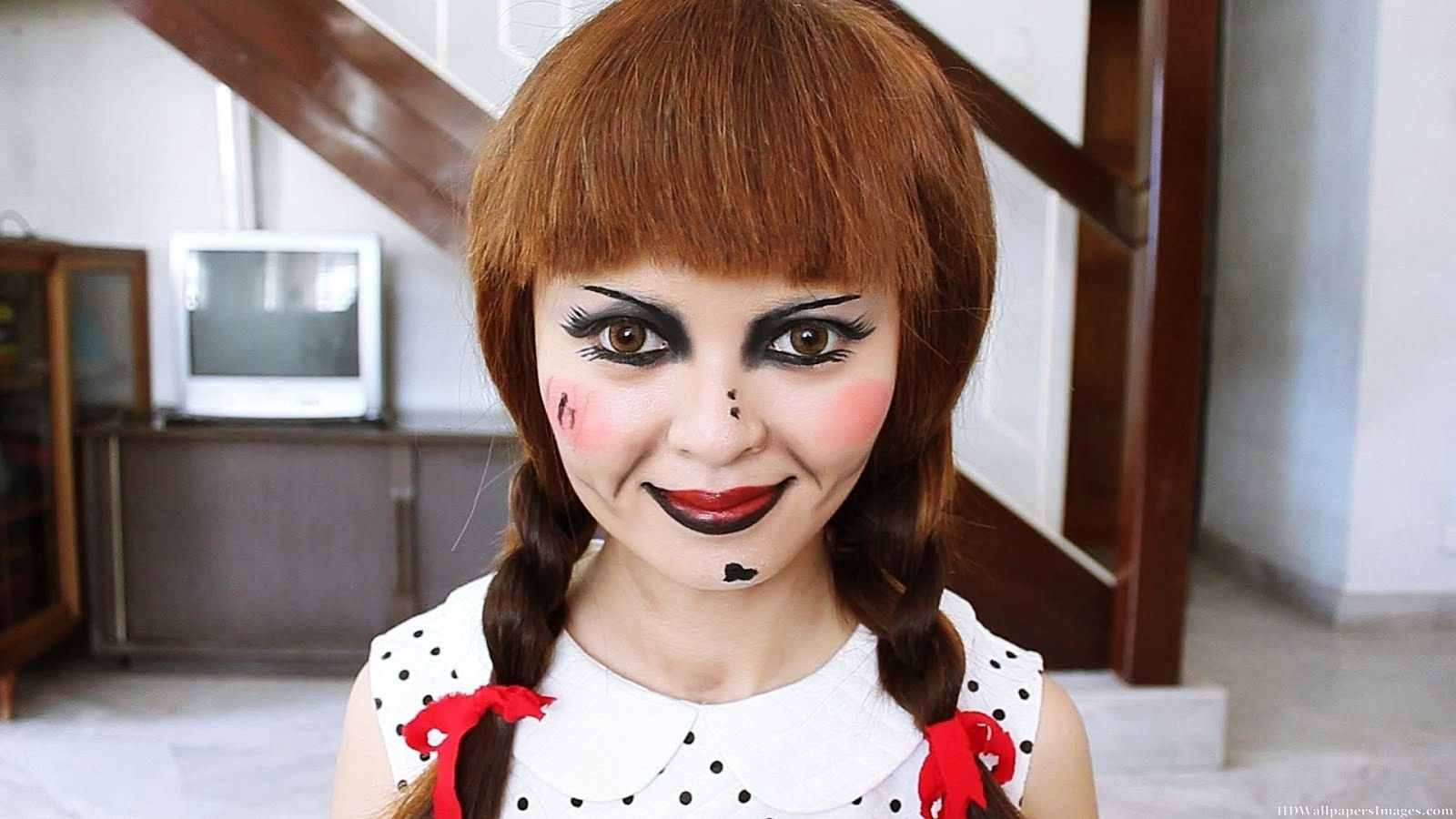 Annabelle doll google search happy halloween pinterest here is the annabelle halloween makeup tutorial to make you the annabelle doll in this upcoming halloween party discover more halloween makeup tutorial baditri Image collections