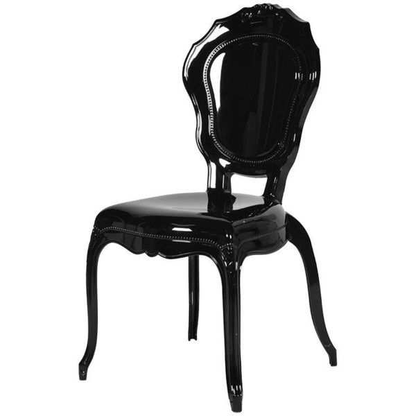 Acrylic Louis Style Dining Chair Black 155 Liked On