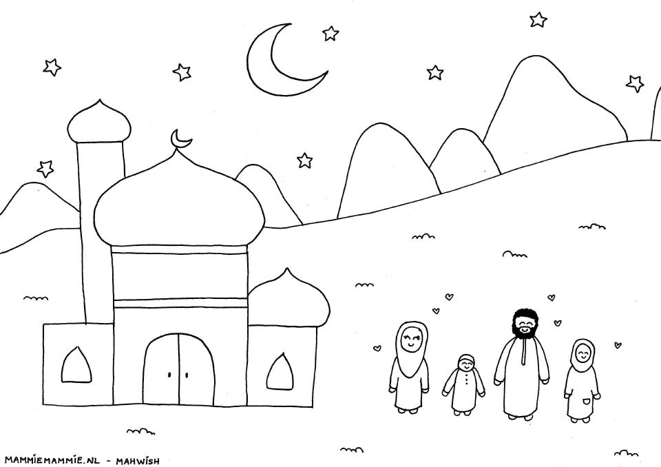 Islamitisch Kleurplaten.Islam Kleurplaten Voor Kinderen Islam En Islamitisch