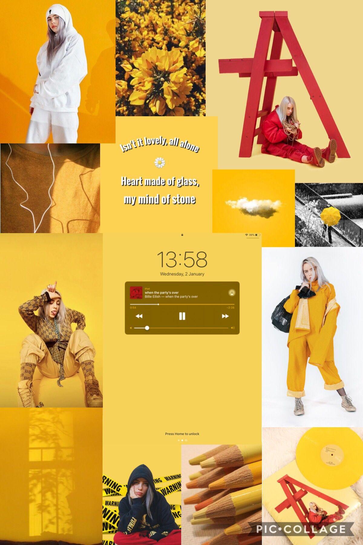 Billie Eilish Wallpaper Billie Eilish Billie Yellow Aesthetic