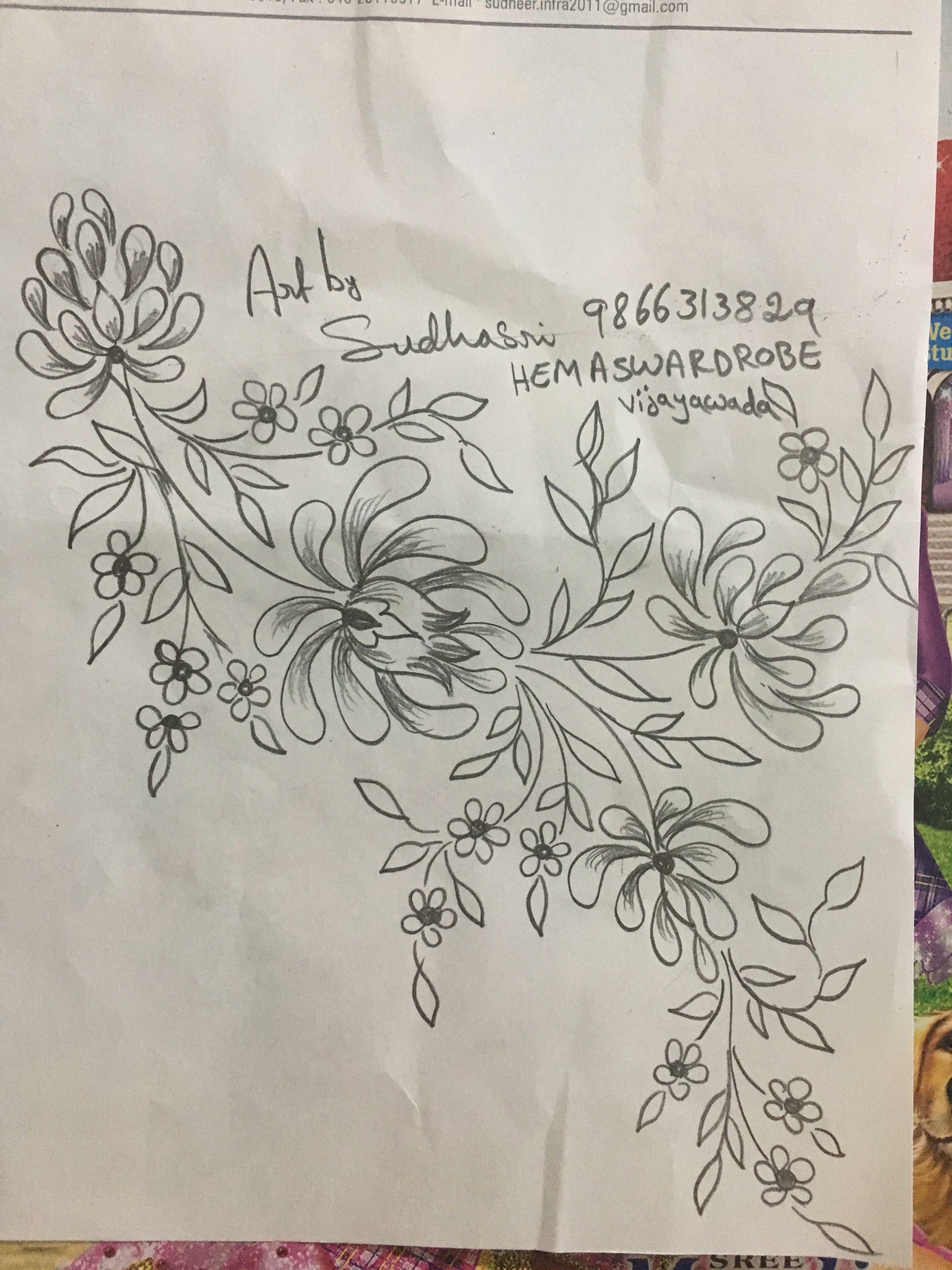 Sudhasri hemaswardrobe borders pinterest embroidery patterns