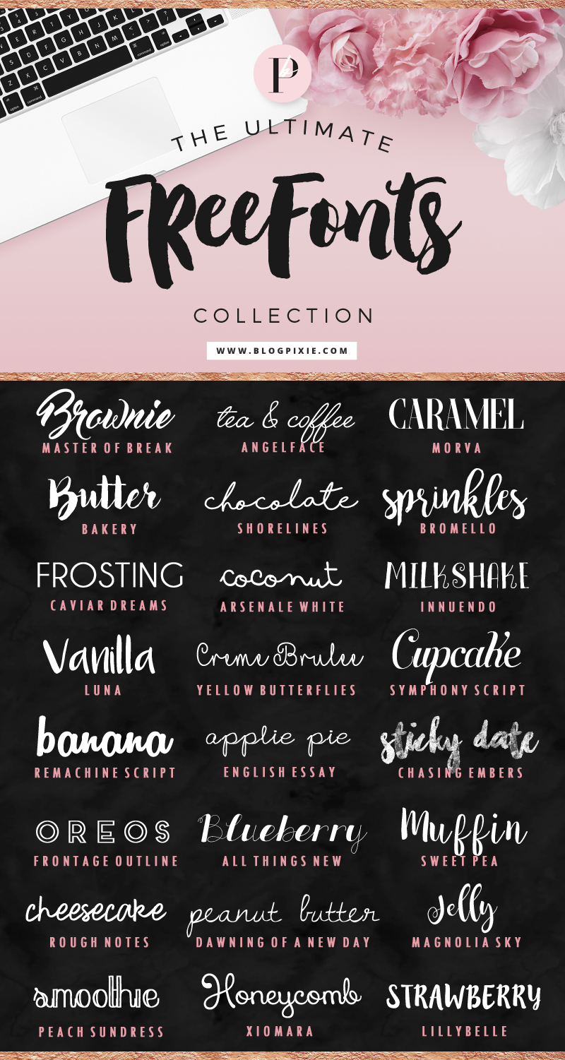 Free Fonts to Download - The Ultimate Free Fonts Collection by Blog Pixie