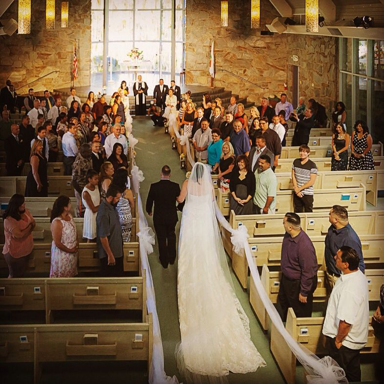 Wedding Dress And Veil From Deborahs Bridal Santa Anita Church
