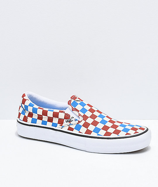 Vans Slip-On Pro Blue, Rust \u0026 Off-White