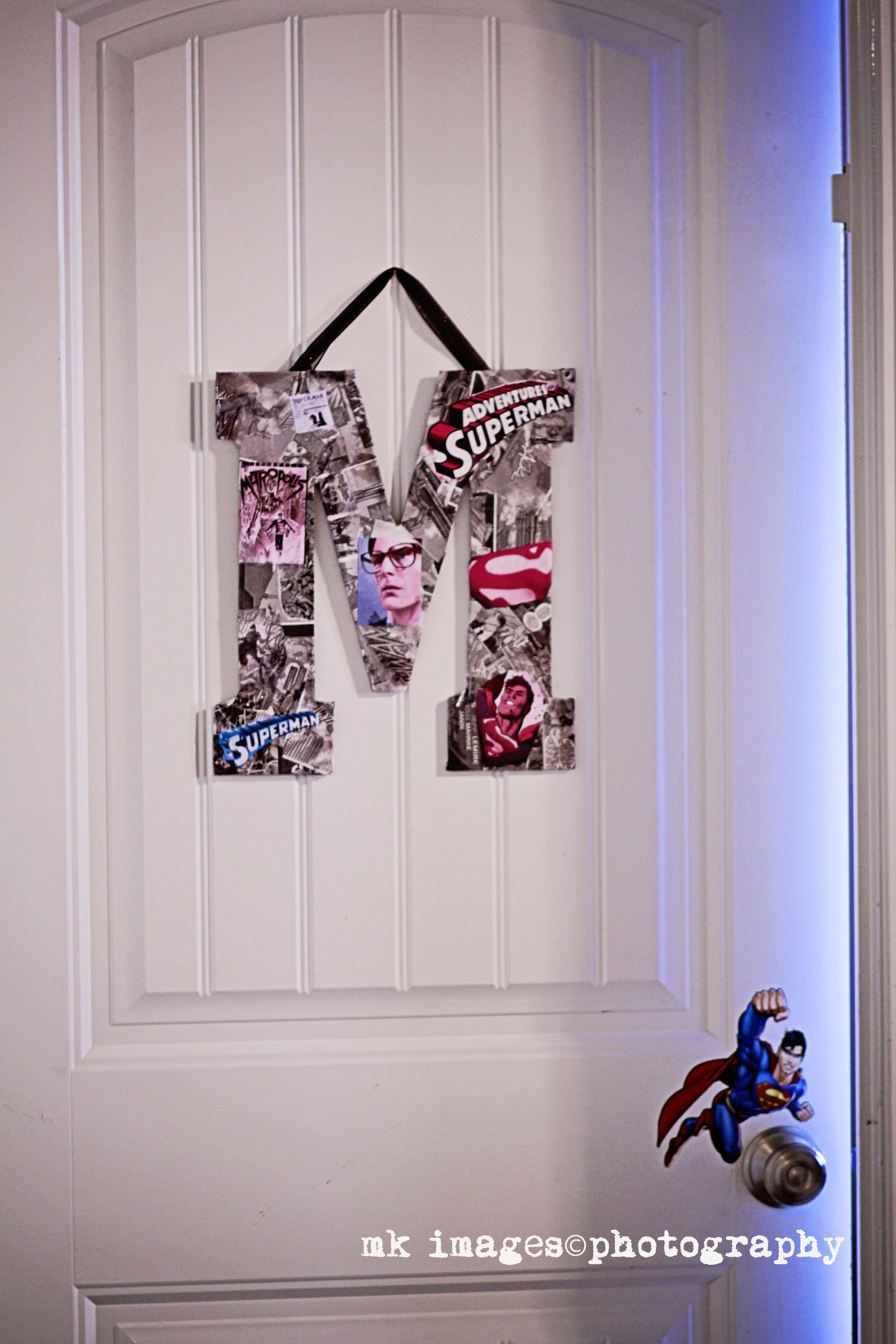 bedroom comic book decoupage letter m superman room superman bedroom